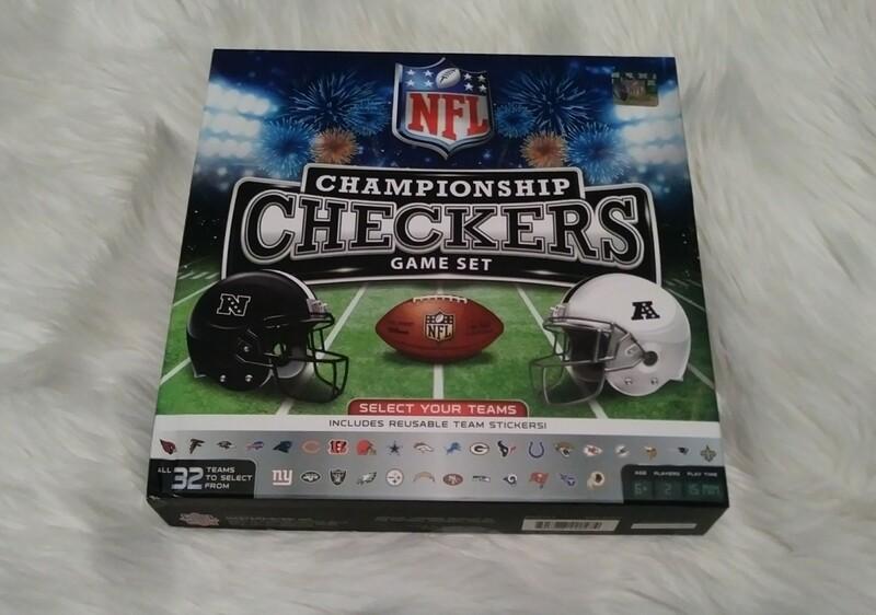 NFL Championship Checkers Game Set