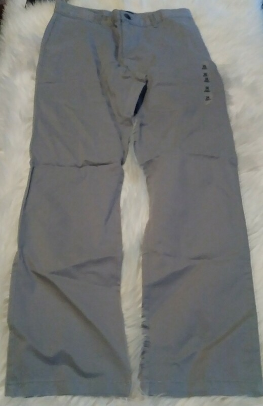 Youth Grey Size 14 Flat Front Pants