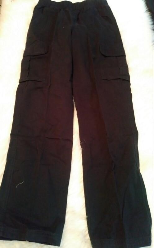 Youth Black Cargo Pants