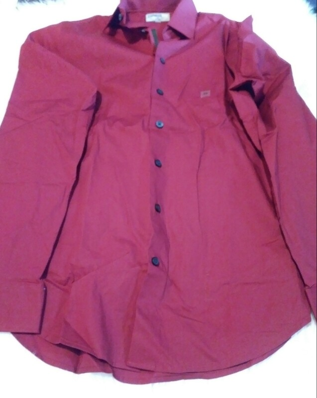 Express Fitted Men's XS Red Button Down Shirt
