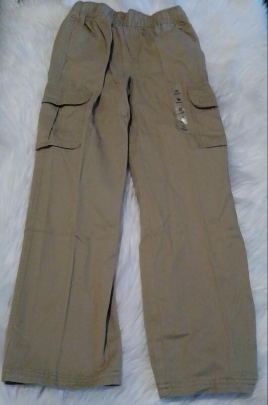 Youth Size 14 Khaki Cargo Pants