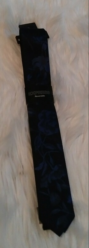 Navy Blue Floral Tie