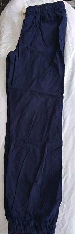 Navy Blue Scrunch Leg Pants