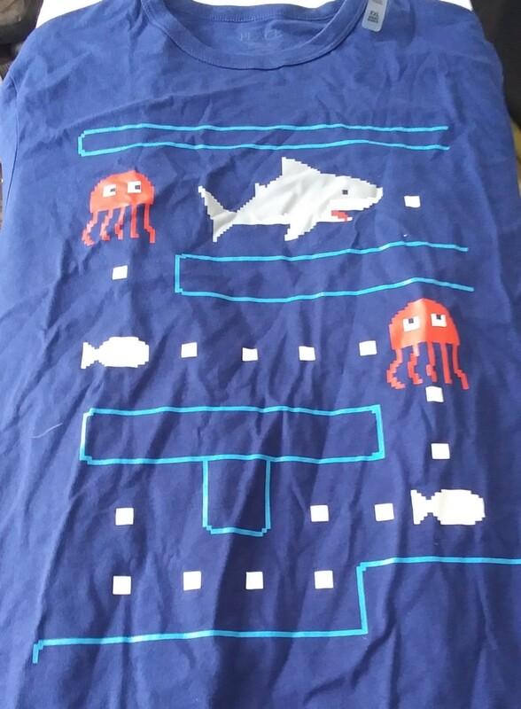 Pac Man Shark Shirt