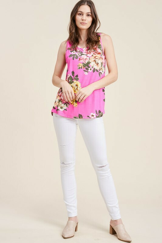 Tropical Pink Top