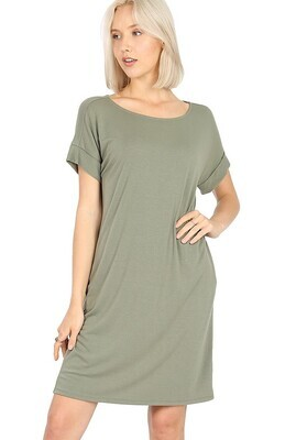 T-Shirt Dress, Olive