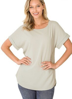 Woven Sage Top