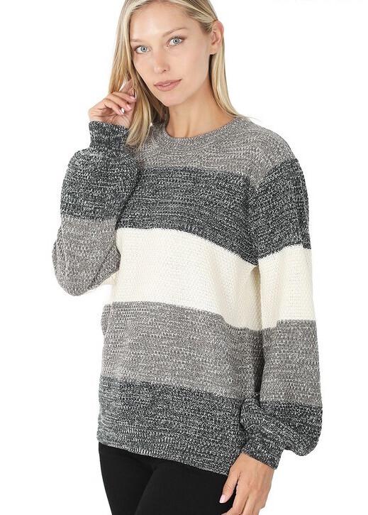 Gray Block Sweater