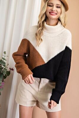 Black Block Sweater