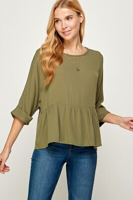 Baby Doll Top, Olive