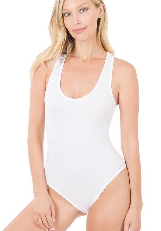 Seamless Bodysuit, White