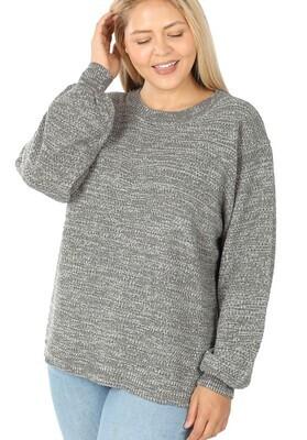 Curvy Grey Sweater