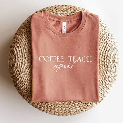 Coffee & Teach Tee, Mauve