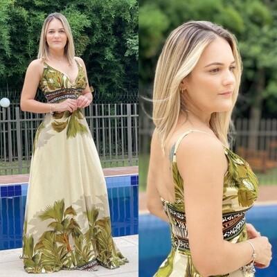 Amazon Rainforest Vibes Maxi Dress