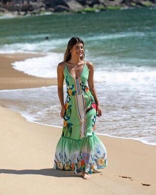 Tropical Summer Midi Dress