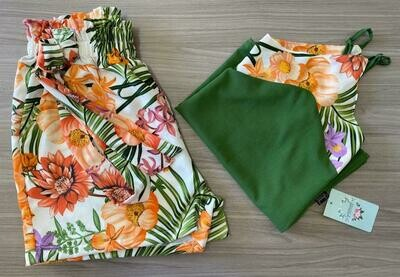 Green Tropical Florals Set
