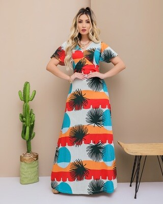 Palmetto Fan Maxi Dress