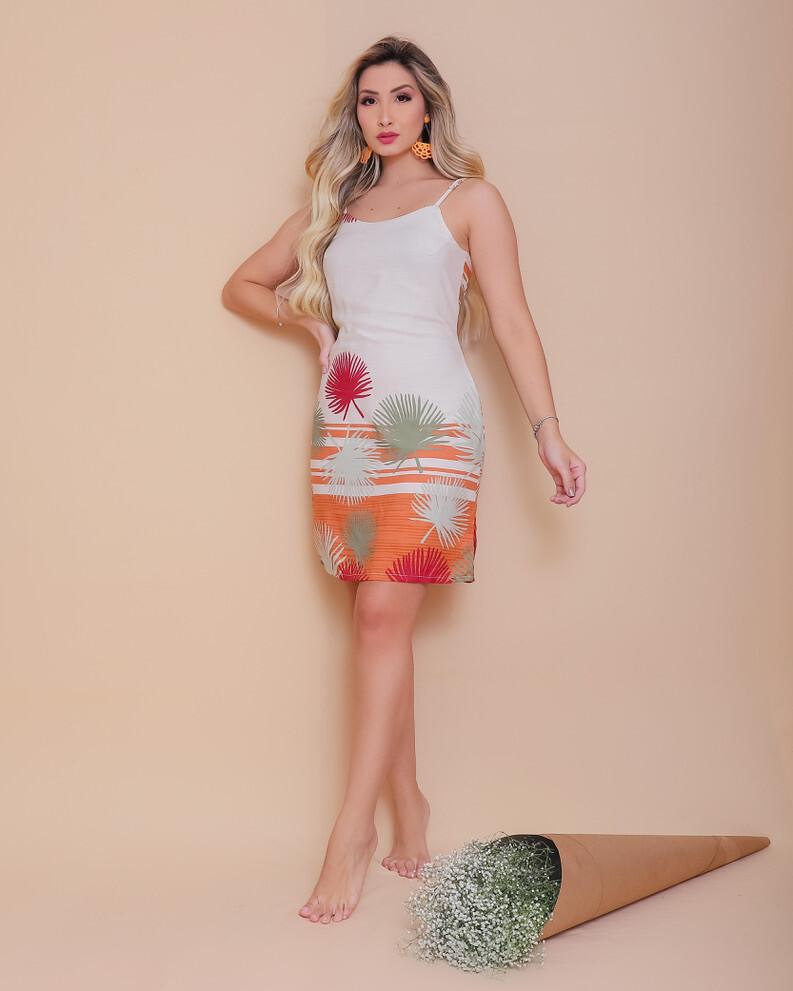 Sunset Palmetto Fan Dress