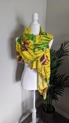 Yellow Tropical Vibes Sarong