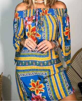 LISBON OFF-THE-SHOULDER DRESS
