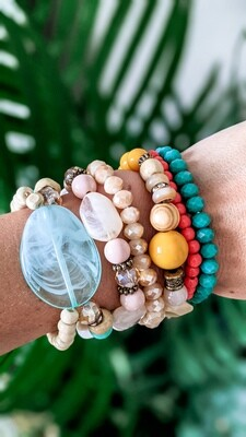 Set Of 7 Bracelets, Brazilian Vibes