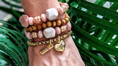 Set Of 4 Bracelets, Cheer up