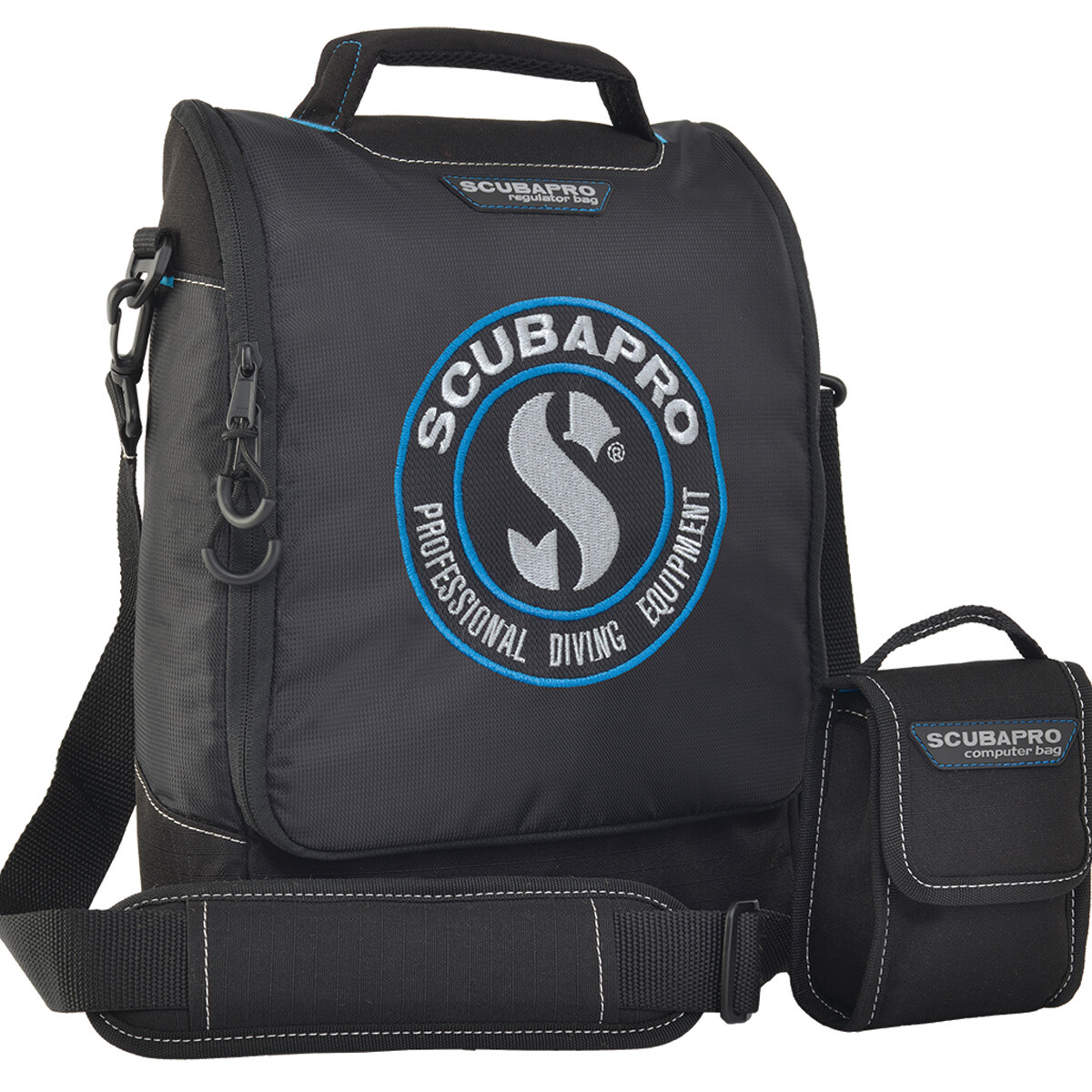 DIVE REGULATOR AND COMPUTER BAG, BLACK