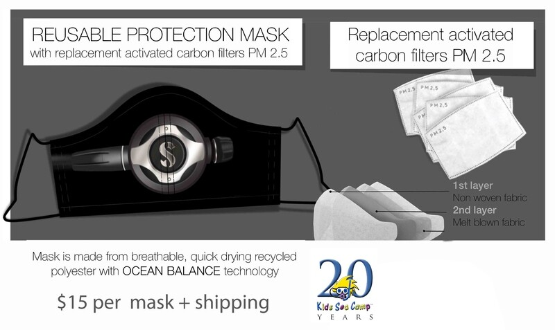 Kids Sea Camp Protective Mask