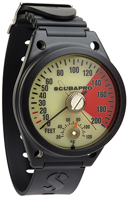 DEPTH GAUGE W/ARMSTRAP, IMPERIAL