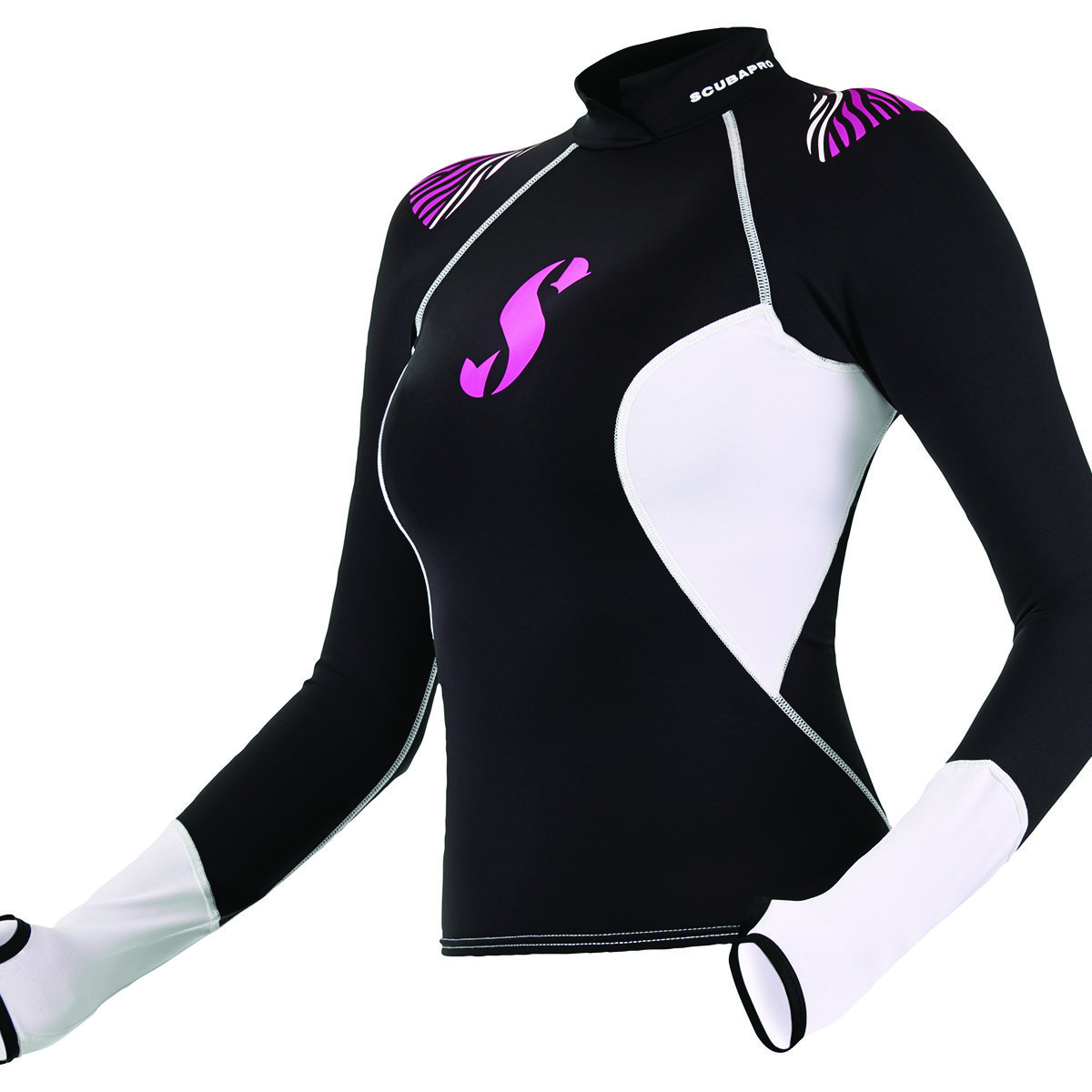 HYBRID RASH GUARD, LONG SLEEVE, WOMEN