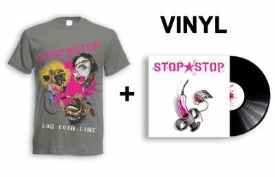 3 Wise Monkeys T-shirt + Vinyl Bundle