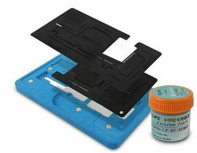 iPhone X/Xs Middle Layer Reballing Stencil-- Glon Magnetic Black New Version
