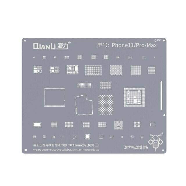 iPhone 11 / 11 PRO / 11  PRO MAX -  BGA Reballing Stencil by Qianli - 2D