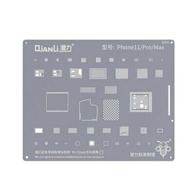 iPhone 11 / 11 PRO / 11  PRO MAX -  BGA Reballing Stencil by Qianli