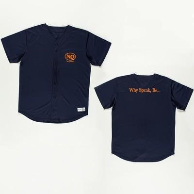 NQ Baseball Jersey Orange on Navy.