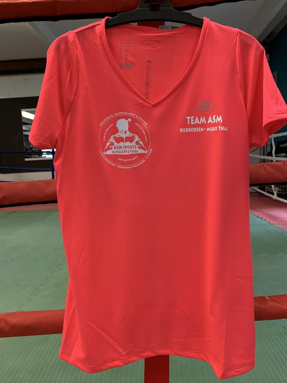 Dames T-shirt club dry-fit zwart of roze (kickboksen)