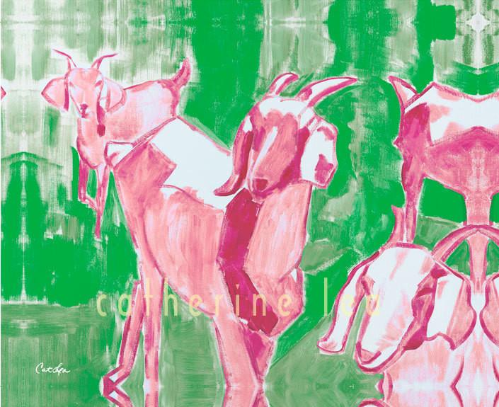 Trio of Goats 1