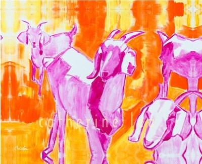 Trio of Goats 4