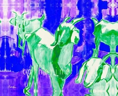 Trio of Goats 2