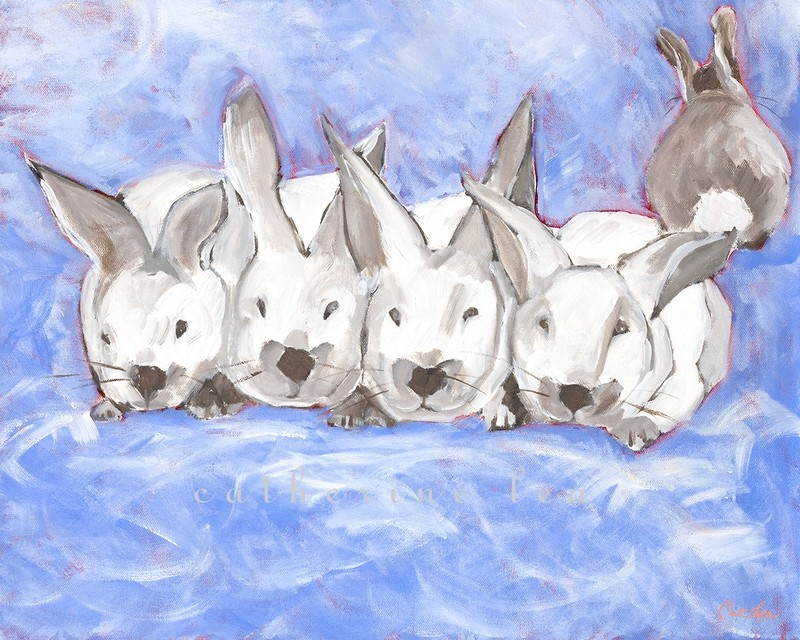 Bunny Cloud (periwinkle)