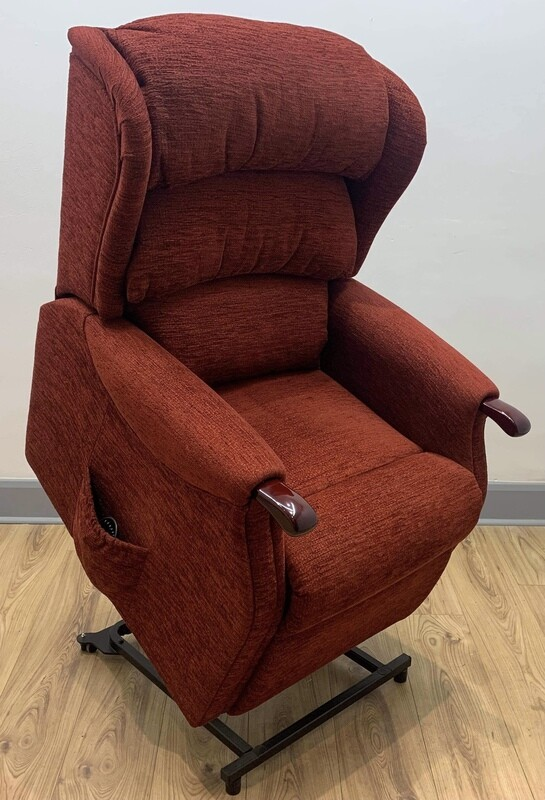 HSL Linton Red Dual Motor Riser Recliner Chair (Standard)