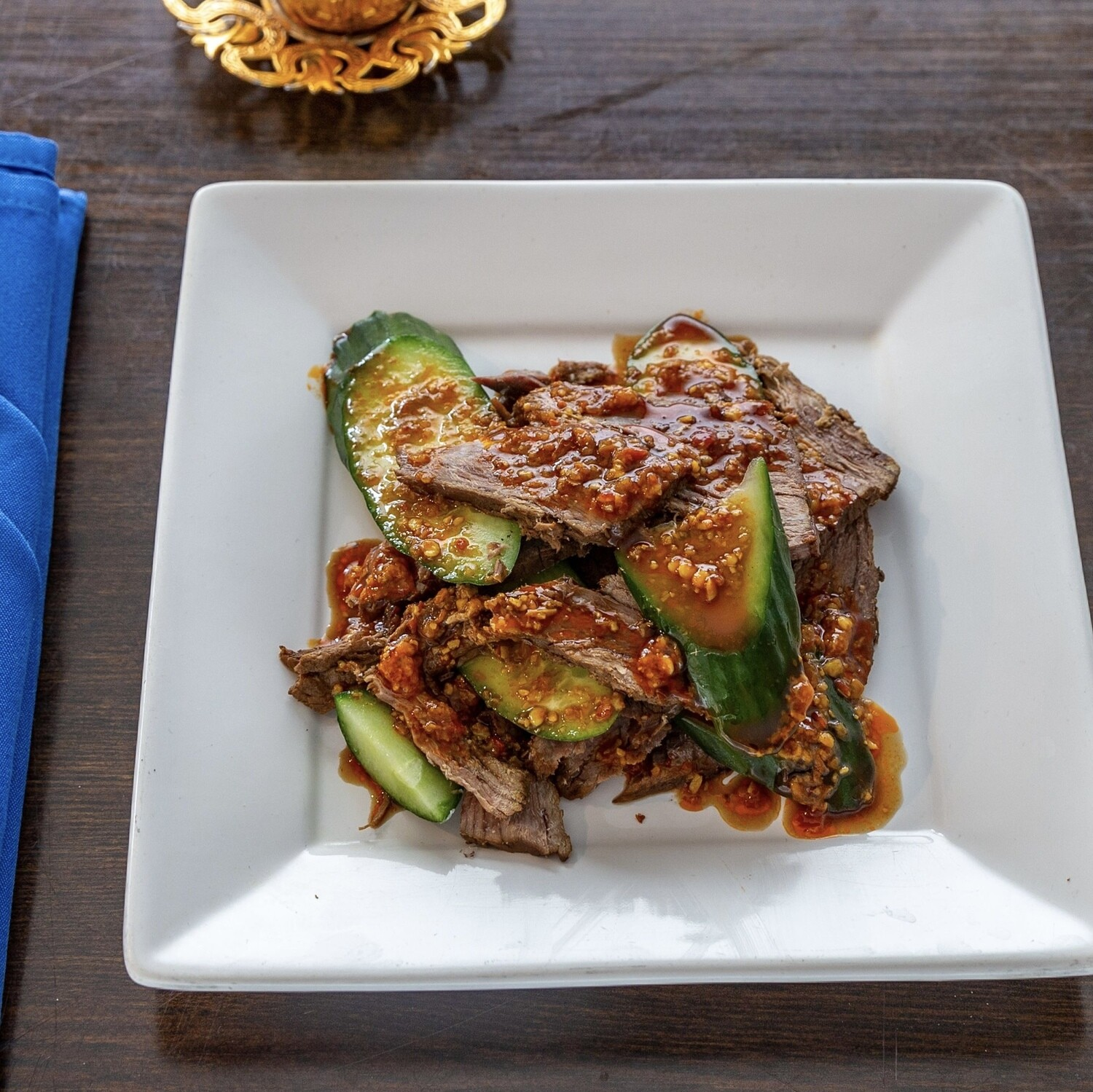 Cold Beef with Cucumber 黄瓜拌牛肉
