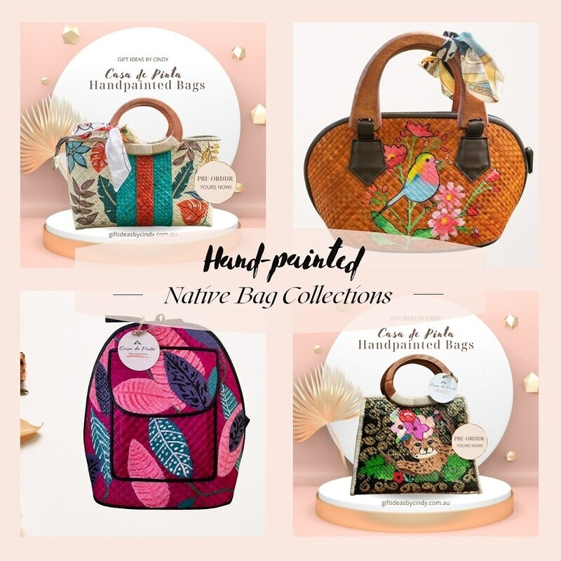 Custom Made Handpainted Native Bag