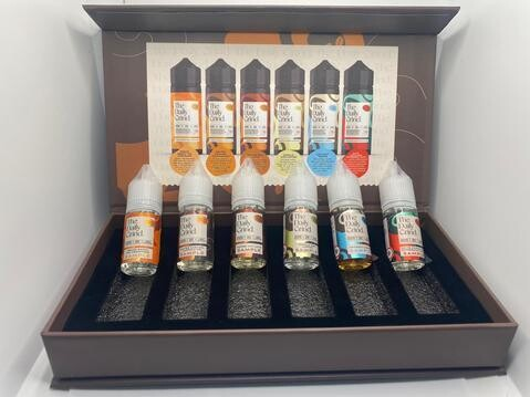 The Daily Grind E-Liquid Sample Box 10ml (6 Flavours in a Pack)