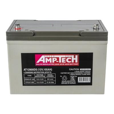 AMPTECH AGM DEEP CYCLE BATTERY 105AH