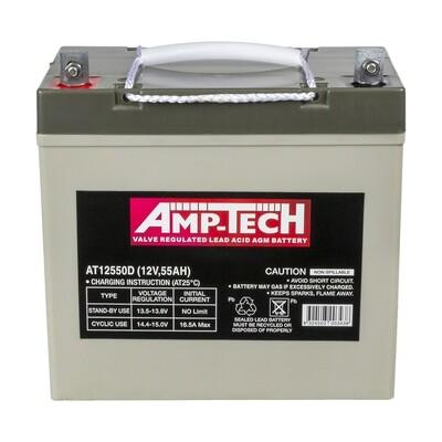 AMPTECH AGM DEEP CYCLE BATTERY 55AH