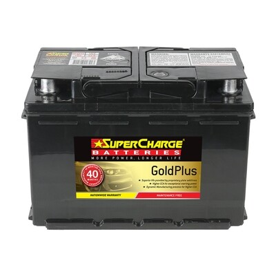SUPERCHARGE GOLD MAINTENANCE FREE BATTERY 720CCA