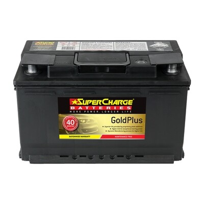 SUPERCHARGE GOLD MAINTENANCE FREE BATTERY 780CCA