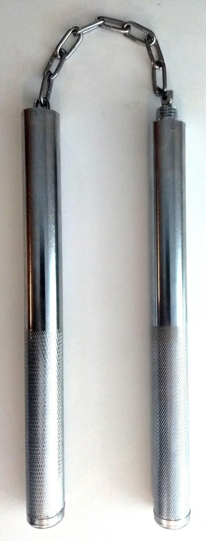 Chakos y bastón de aluminio atornillables,  dos en uno.