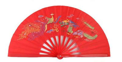 Abanico de Bambu Original hecho a mano Rojo
